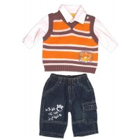 Jungle Rumble Baby Boy Stripe Knit Vest
