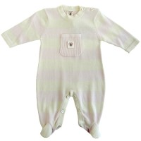 Nurtured By Nature Stripe Snuggle Suit