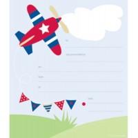 Paper Eskimo Plane Invitations