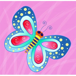 Canvas Print - Pink Butterfly