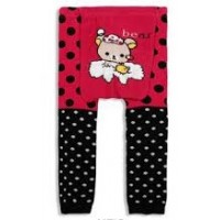Pink/Black Bear Baby Leggings