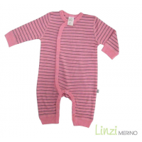 Linzi Merino Romper- Peony Pink