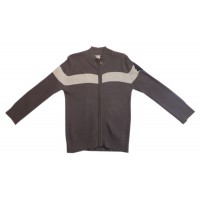 Ouch Zip Through Knit - Brown