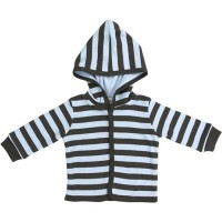 Marquise Chocolate Striped Hooded Jacket