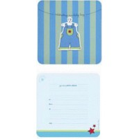 Baby Occasion Blue Overall Invitations