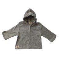 Nurtured by Nature Organic Hooded Cardi - Grey Marle