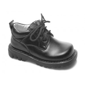 Alek Black Leather Shoe